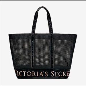 NWT Victoria's Secret Large Mesh Tote Bag zipper